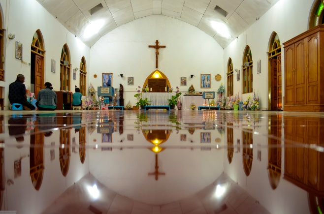 Catholic church in Larantuka (Indonesia)