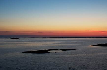 Sunset in the Åland islands