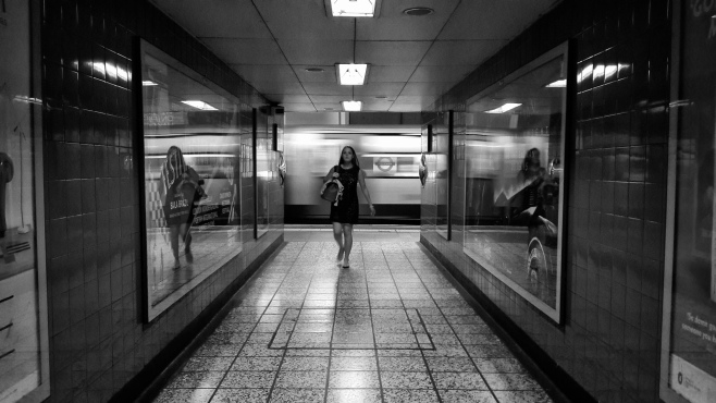 London underground - Passing Through - by ArnaldoPellini