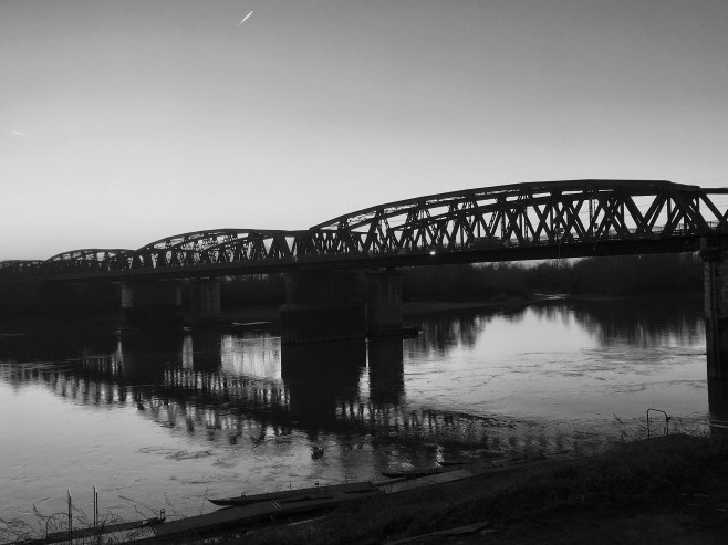 Bridge over the Po river
